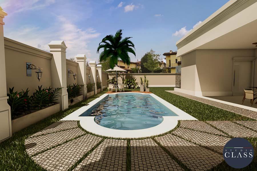 Projeto casa t rrea neocl ssica fachada terreno plano for Fachada de la casa clasica