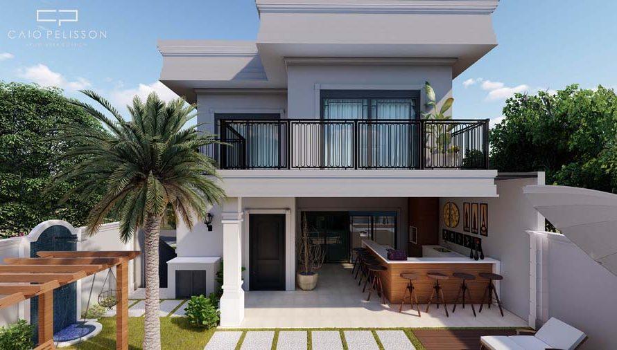 projeto-sobrado-triplex-garagem-subsolo-estilo-neoclassico-sorocaba-golden-12x30-porta-preta-piscina