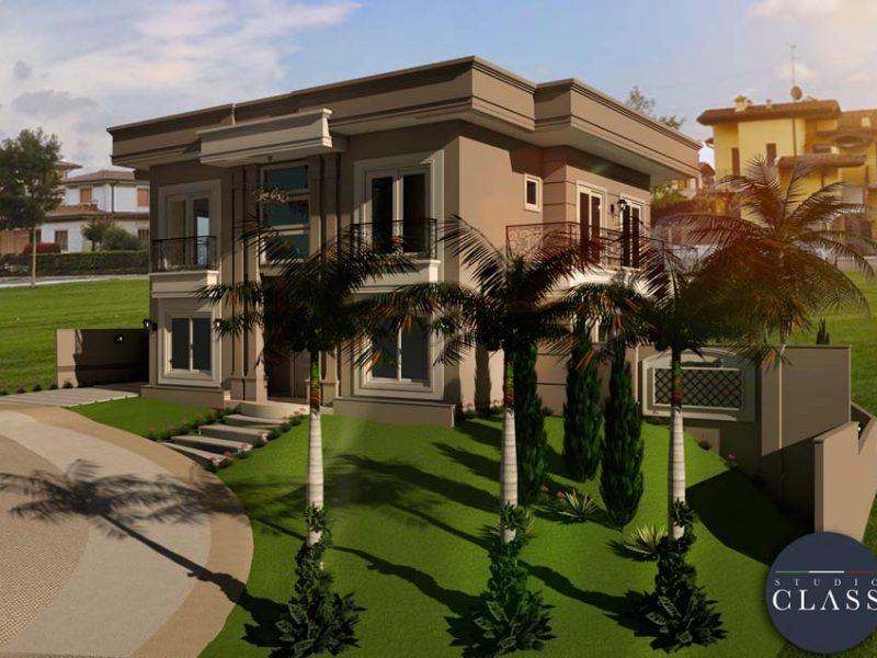 projeto sobrado neoclassico alto padrao condominio terreno desnivel cotia sp (1)