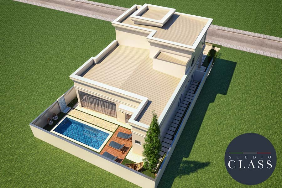 projeto casa neoclassica alphaville campinas terrea mezanino 15x30 260 metros