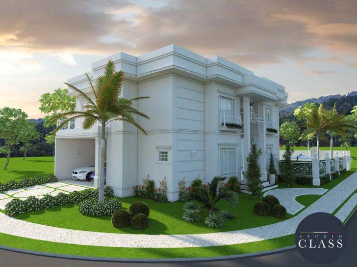 sobrado duplex esquina estilo neoclassico alto padrao luxo condominio swiss park campinas sp