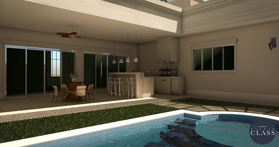 projeto casa térrea neoclássica fachada terreno plano curitiba parana