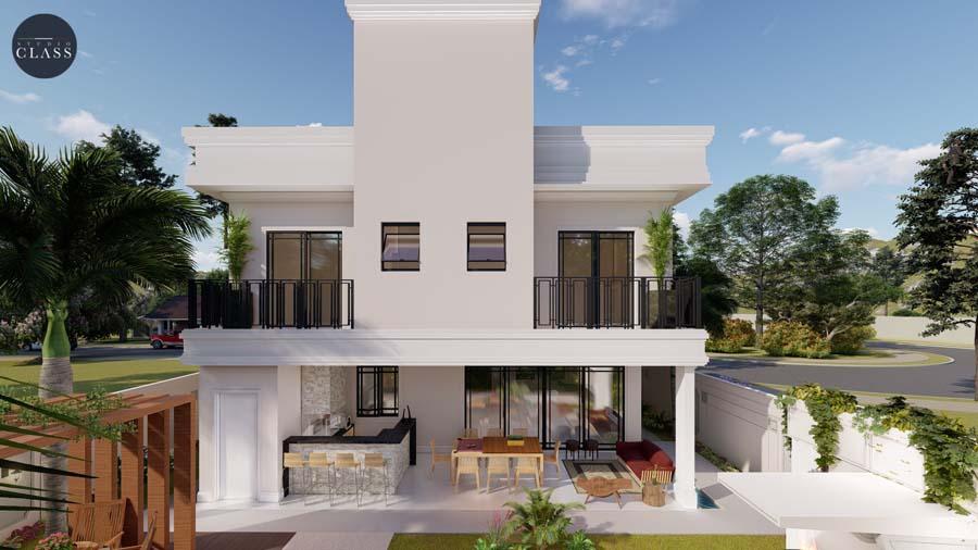 Projeto casa 12x25 condomínio Roland 3 em Limeira