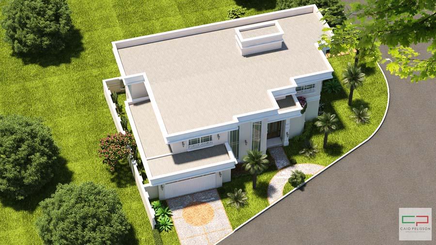 Construção neoclássica condomínio Alphaville 2 em Campinas