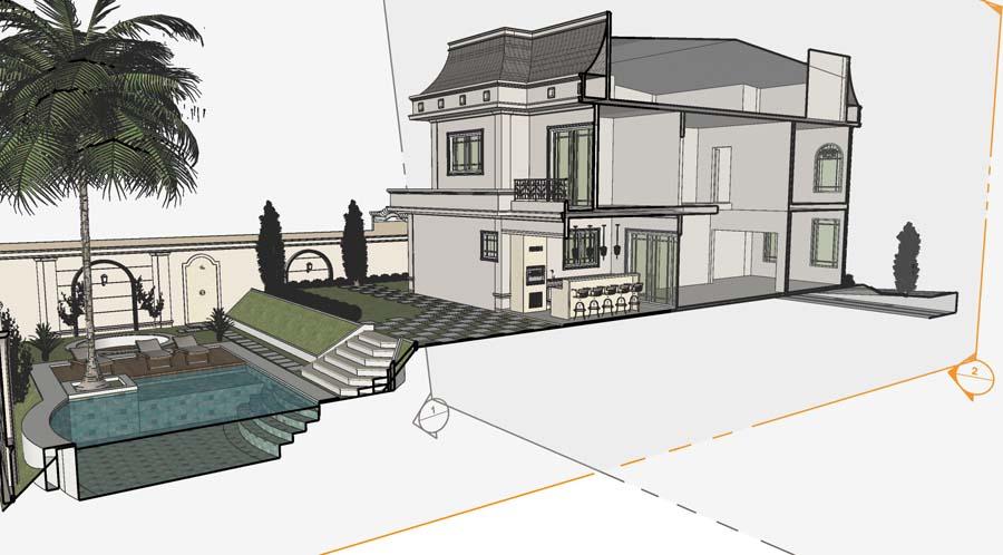 projeto mansao neoclassica estilo frances condominio araras 4 suites terreno desnivel lateral projeto mansao neoclassica estilo frances condominio araras 4 suites terreno desnivel lateral