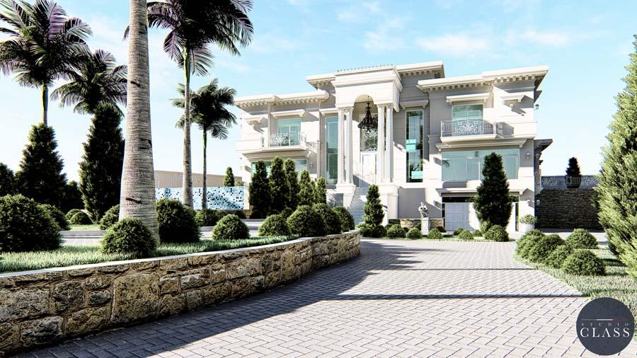 projeto triplex casa estilo classico romano com toque moderno garagem subsolo