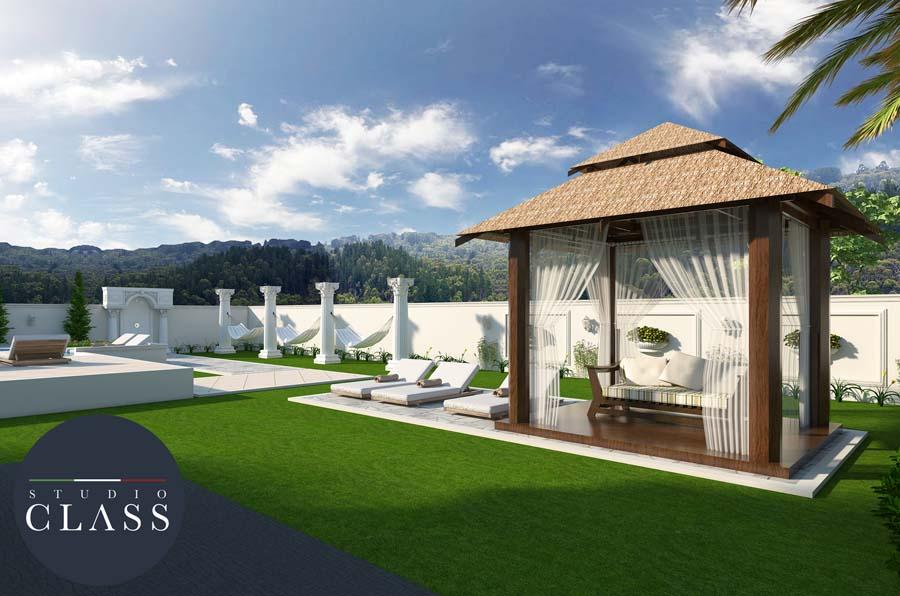 projeto sobrado neoclassico estilo frances alto padrao condominio terras do golfe campo grande ms