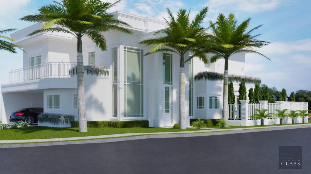 Construir casa neoclássica no condomínio Alphaville em Campinas