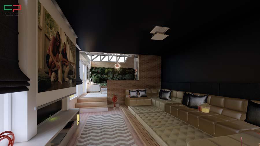 Design de interiores em ambiente moderno