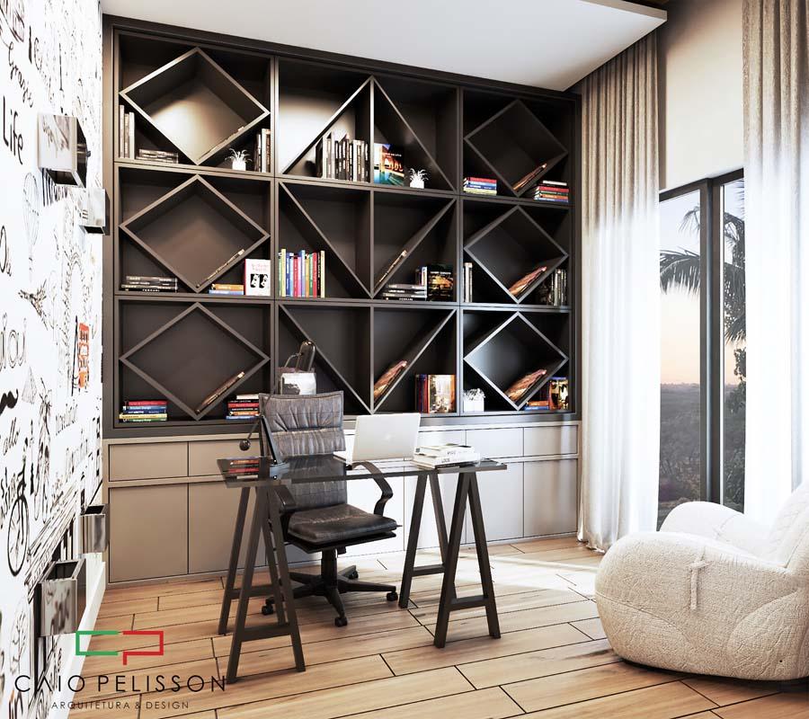 Decoração de interiores em ambientes modernos alto padrão