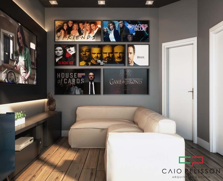 Decoração de interiores em ambientes modernos de alto padrão