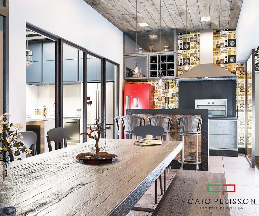 Design de interiores em ambiente moderno de alto padrão
