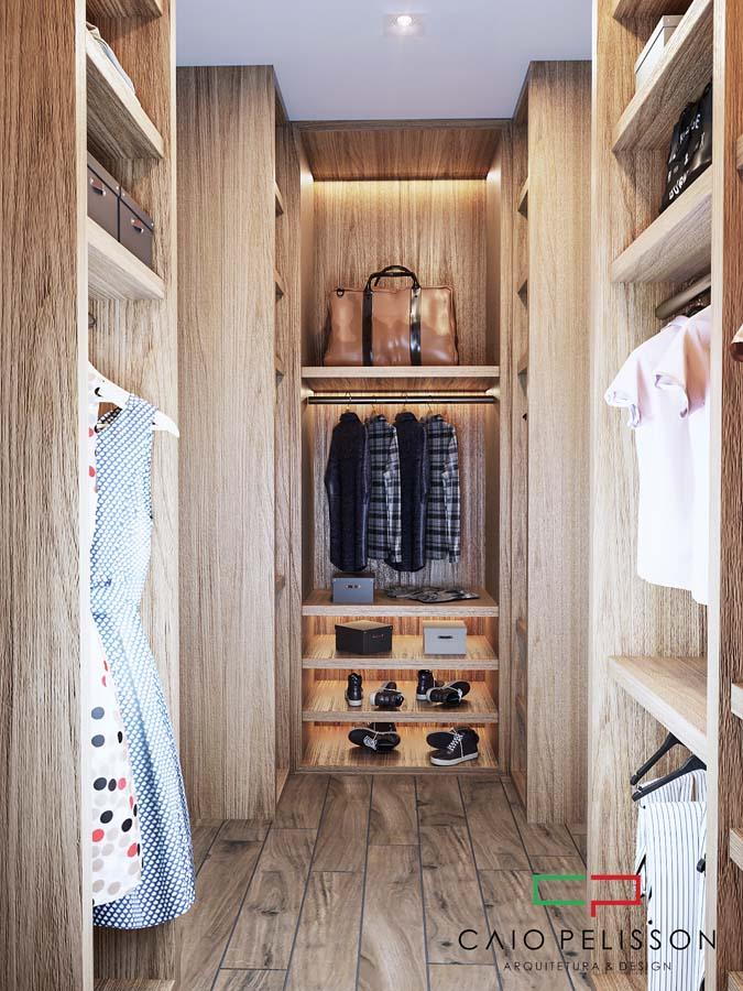 Decorador de interiores em ambientes modernos de alto padrão