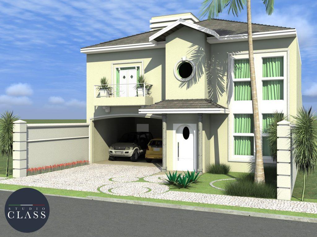 Projeto casa clássica americana em Limeira
