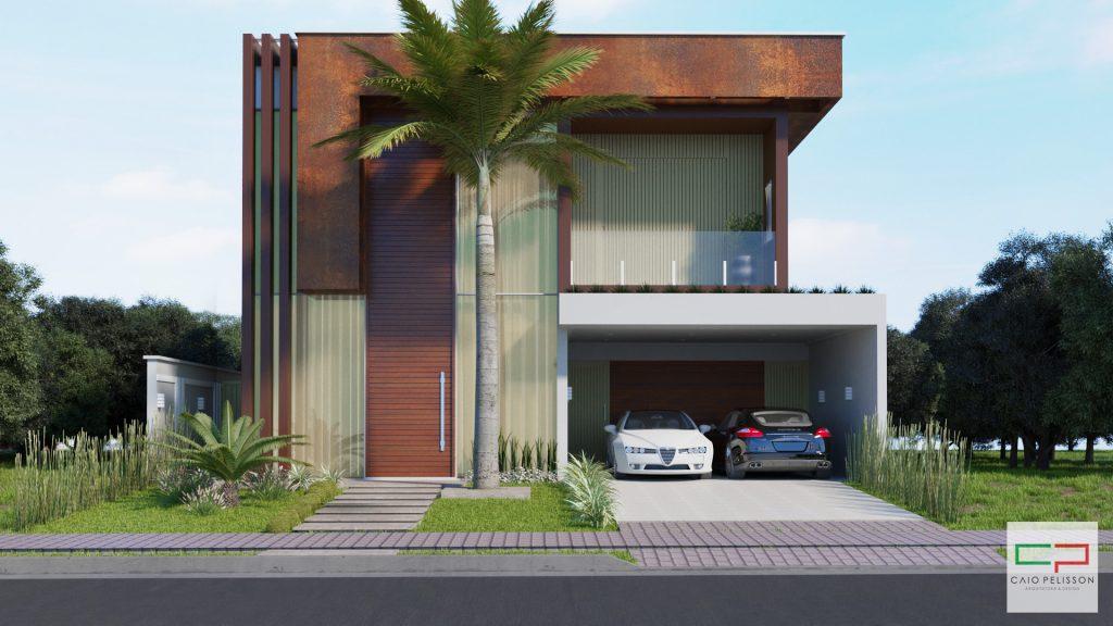 Projeto sobrado duplex moderno em Limeira