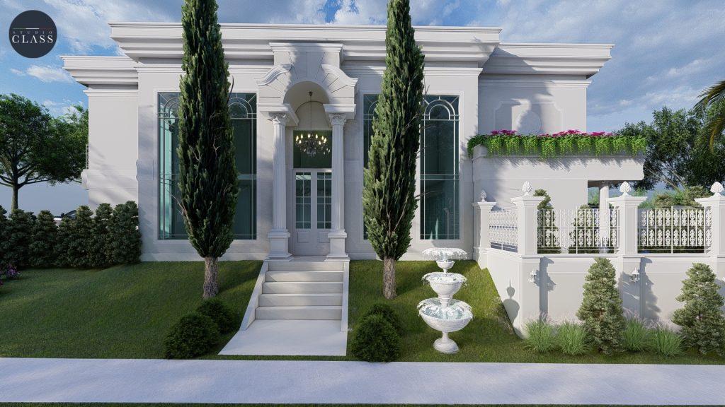 Projeto sobrado duplex neoclássico Greville Limeira