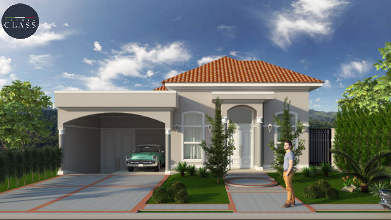 Projeto casa térrea clássica americana em Limeira