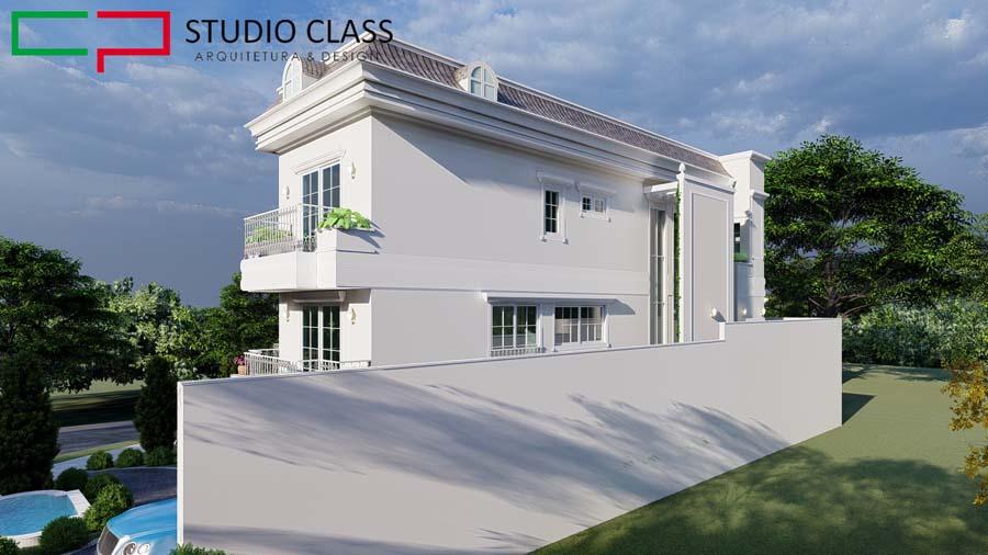 casa neoclassica esquina condominio alphaville dpedro campinas arquitetura classica