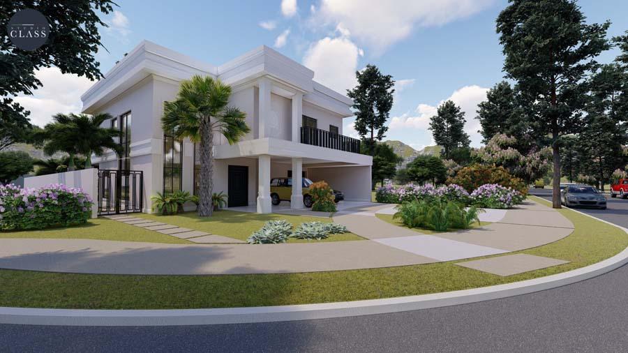 Projeto sobrado duplex neoclássico no condomínio Greville em Limeira
