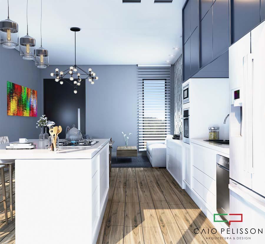 Design de interiores em ambientes modernos no condomínio Village Damha em Limeira