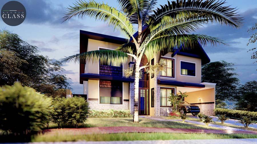projeto sobrado duplex moderno mais rústico, condomínio Greville em Limeira