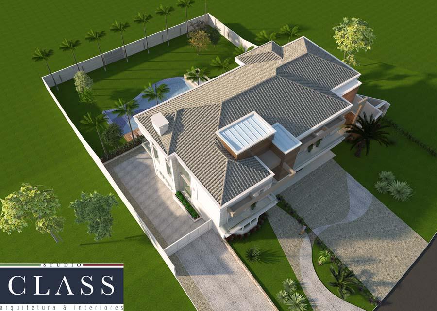 projeto sobrado duplex neoclássico no condomínio Vale das Oliveiras em Limeira