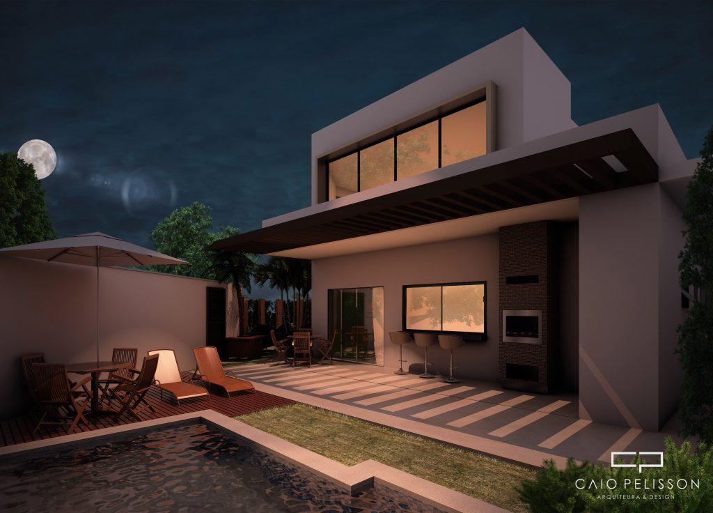 Projeto sobrado duplex moderno no condomínio Portal de São Clemente em Limeira
