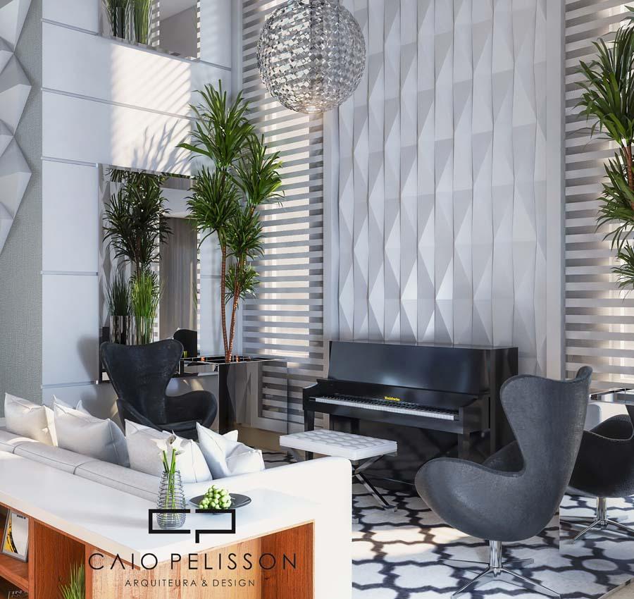 Design de interiores no condomínio Parque São Bento em Limeira