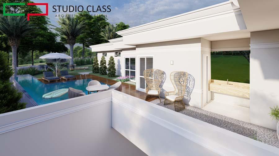 projeto casa terrea garagem subsolo estilo neoclassico condominio jatibela campinas
