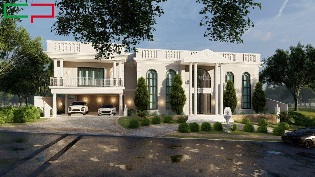 projeto mansao neoclassica estilo romano sobrado 800 metros