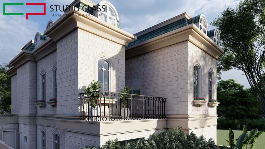 construir casa de pedra gres estilo classico medieval