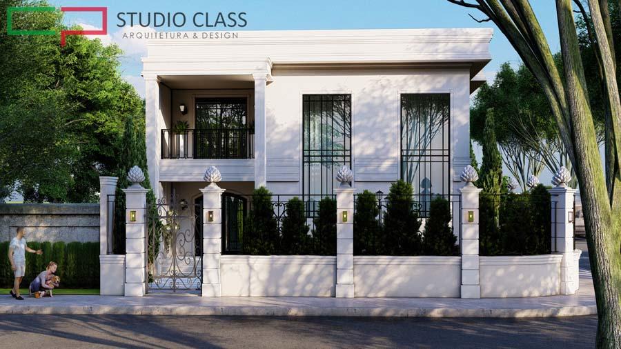 projeto sobrado estilo neoclassico esquina recife pernambuco